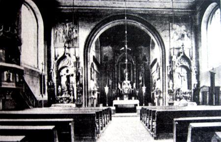 Kościół 1830 r.  – interior da igreja em 1830