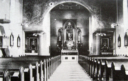 Kościół 1934 r.  – interior da igreja em 1934